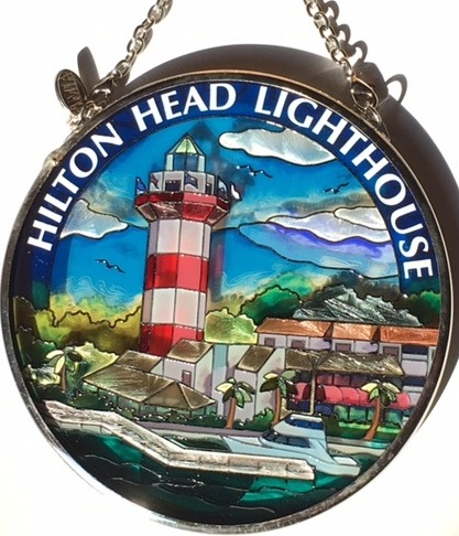 Amia 7508 Hilton Head Lighthouse Small Circle Suncatcher