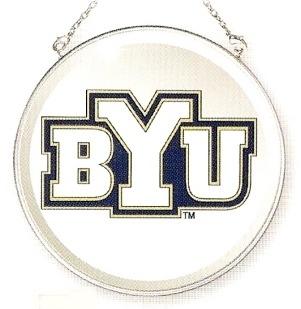 Amia 7524 Brigham Young University Cougars Beveled Medium Circle Suncatcher