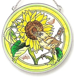 Amia 7601 Morning Song Medium Circle Suncatcher