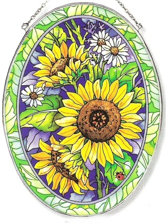 Amia 7604 Sunny Composition Large Oval Suncatcher