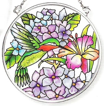 Amia 7617 Nature's Comedy Small Circle Suncatcher