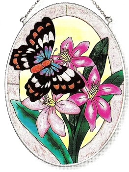 Amia 7628 Butterfly Medium Oval Suncatcher