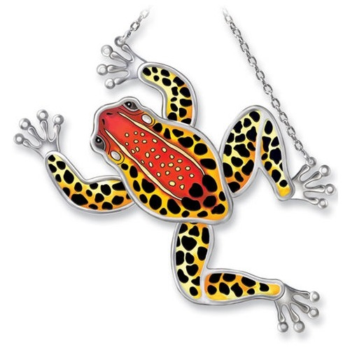 Amia 7712 Red Back Poison Dart Frog Frog Shaped Suncatcher