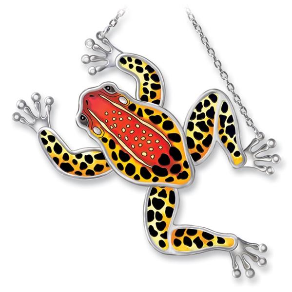 Amia 7712i Red Back Poison Dart Frog Frog Shaped Suncatcher