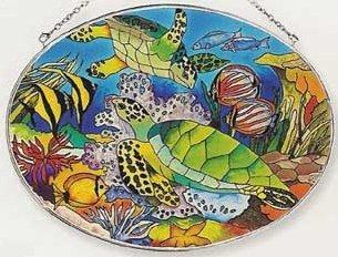 Amia 7741 Tropical Fish Large Oval Suncatcher