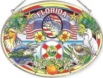 Amia 7752 Florida Large Oval Suncatcher