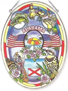 Amia 7771 Alabama Large Oval Suncatcher