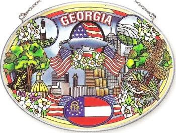 Amia 7774 Georgia Large Oval Suncatcher