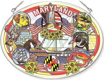 Amia 7775 Maryland Large Oval Suncatcher