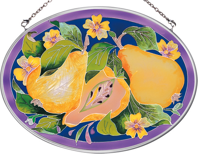Amia 7804 Pears Medium Oval Suncatcher