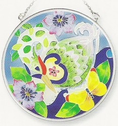 Amia 7820 Swan Medium Circle Suncatcher