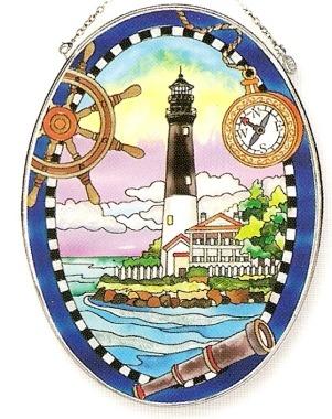Amia 7848 Pensacola Lighthouse Large Oval Suncatcher