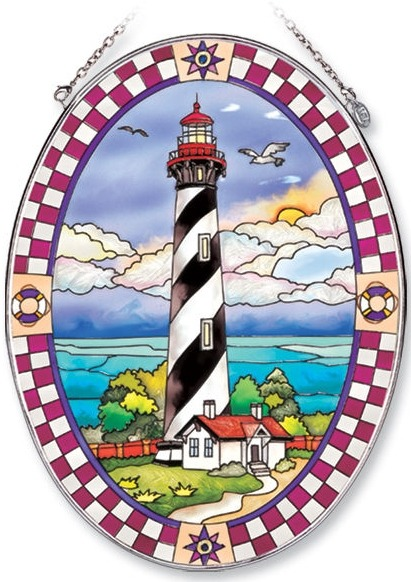 Amia 7851 St Augustine Lighthouse Large Oval Suncatcher