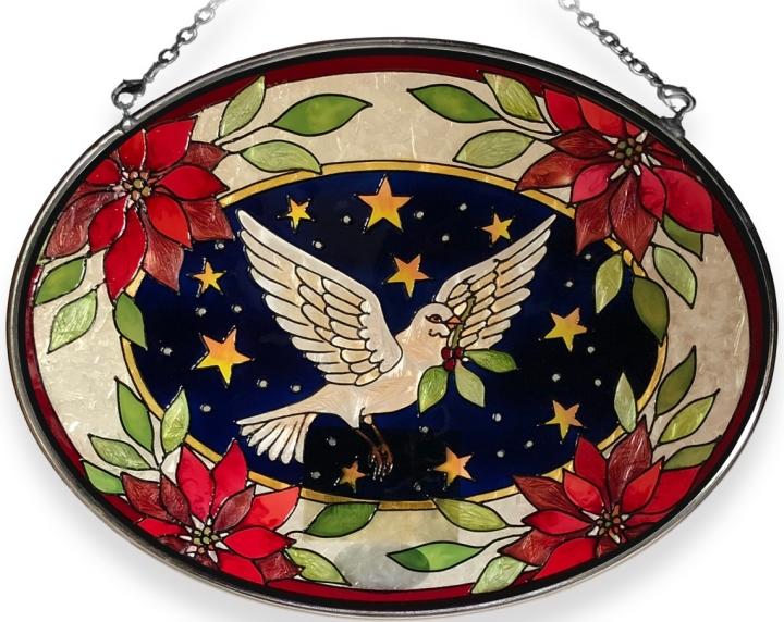 Amia 8059 Dove Medium Oval Suncatcher