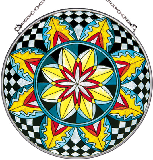 Amia 8119 Checkered Star Large Circle Suncatcher