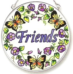 Amia 8121 Friend Medium Circle Suncatcher