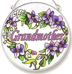 Amia 8124 Grandmother Medium Circle Suncatcher
