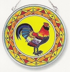 Amia 8138 El Gallo Del Sol Medium Circle Suncatcher