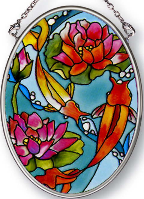 Amia 8264 Goldfish Medium Oval Suncatcher