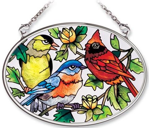 Amia 8349 For The Birds Small Oval Suncatcher