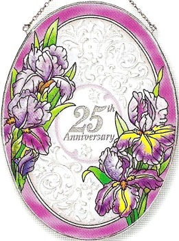 Amia 8378 25th Anniversary Large Oval Suncatcher