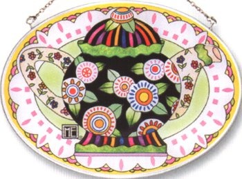 Amia 8406 Mary's Teapot Medium Oval Suncatcher