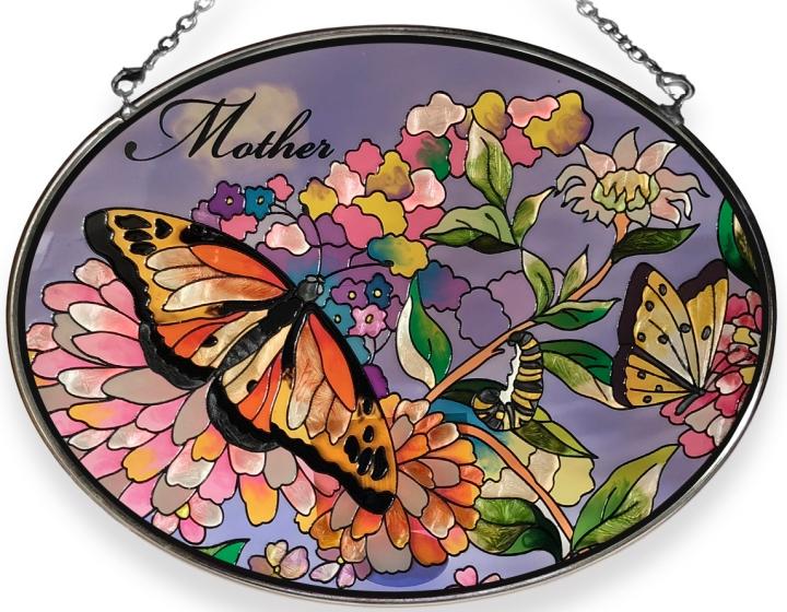 Amia 8451 Mother Medium Oval Suncatcher