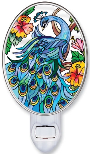 Amia 8558 Peacock Night Light Nightlight