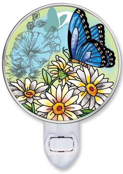 Amia 8568 Butterfly Garden In Bloom Night Light