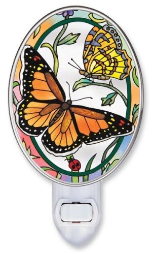Amia 8658i Rainbows & Butterflies Night Light