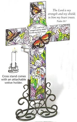 Amia 8806 Peonies & Lilacs Inspirational Cross