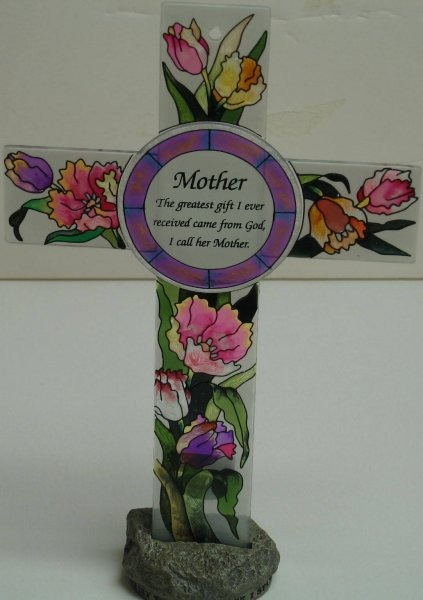 Amia 8831 Tulip Mother Inspirational Cross No Stand