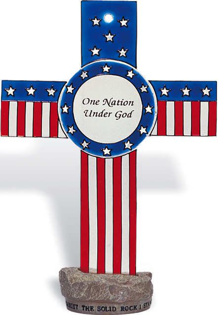 Amia 8853 One Nation Under God Small Circle Suncatcher