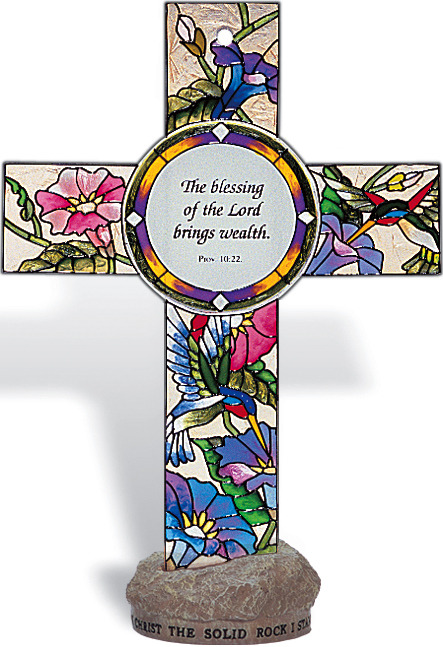 Amia 8854 The Blessing of The Lord Small Circle Suncatcher
