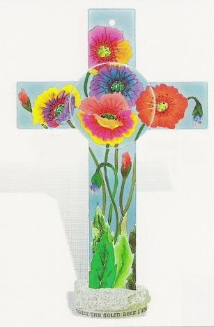 Amia 8873 Poppies Inspirational Cross