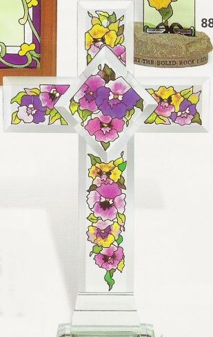 Amia 8886 Columbine & Hummingbird Inspirational Cross