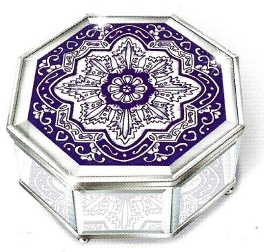 Amia 8916 Delft Blue Octagon Jewelry Box
