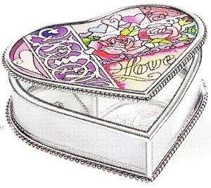 Amia 8933 Love Heart Shaped Jewelry Box