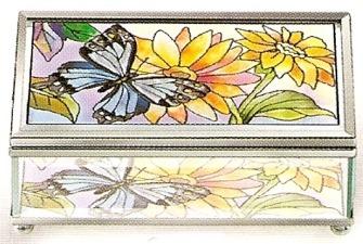 Amia 8980 Daisy Butterfly Medium Jewelry Box
