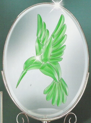 Amia 9218 Hummingbird Beveled Suncatcher