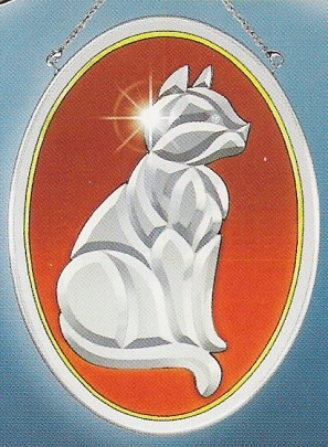 Amia 9233 Cat Beveled Suncatcher