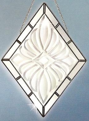Amia 9243 Large Diamond Beveled Suncatcher
