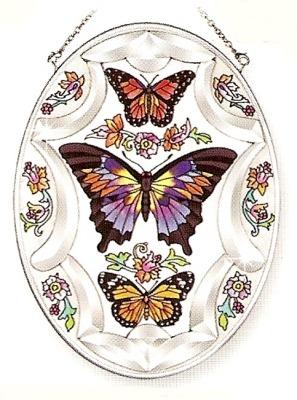 Amia 9265 Whispering Wings Beveled Medium Oval Suncatcher
