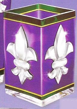 Amia 9280 Fleur De Lis Rectangular Vase Votive Holder