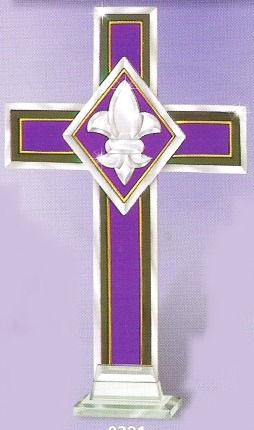 Amia 9281i Fleur De Lis Cross
