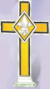 Amia 9285 Gold Cross Fleur de Lis