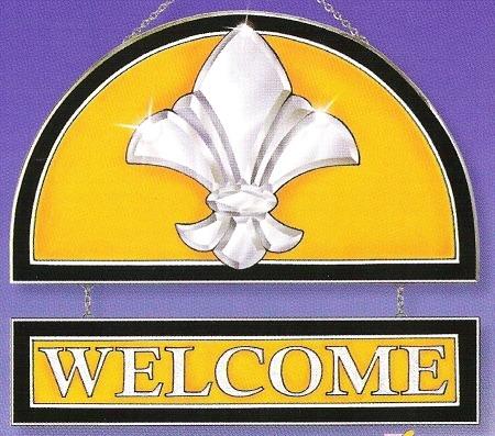 Amia 9286 Gold Welcome Panel Fleur de Lis