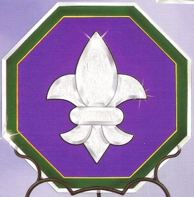 Amia 9287 Octagon Purple Fleur de Lis