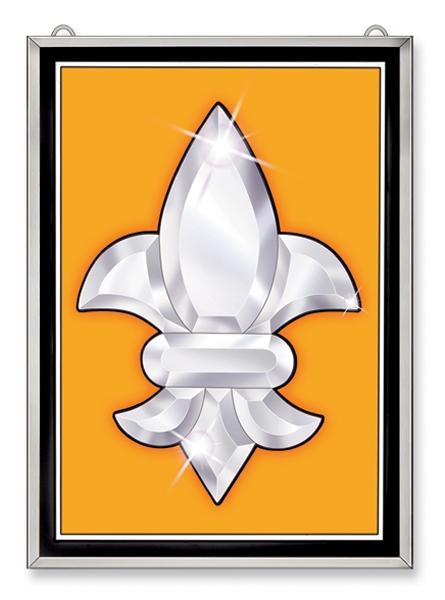Amia 9289 Gold Panel Fleur de Lis