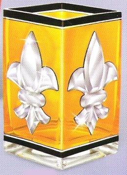 Amia 9297 Gold Votive Fleur de Lis
